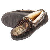 Webers Camo Adult Slippers, 9 (Mens), AP/Brown