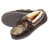 Webers Camo Adult Slippers, 11 (Mens), AP/Brown