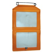 HME Dual License Holder, Orange, Non-Glare Window