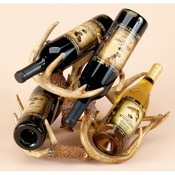 Rivers Edge Faux Antler 4 Bottle Wine Rack