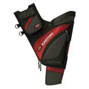 Easton Elite QH100 Hip Quiver, Red, LEFT HAND