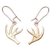 """Empire """"Deer Antler"""" Earrings, Pewter"""