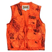 Game Hide Sneaker Big Game Vest, XL, Blaze Camo