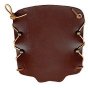 Bateman Laced Leather Armguard, 7in., Brown