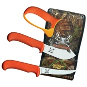 Outdoor Edge Blaze n_ Bone Knife Set, Orange, 4pc Combo