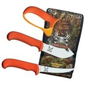 Outdoor Edge Blaze n? Bone Knife Set, Orange, 4pc Combo