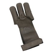 Mountain Man Leather Shooting Glove - Brown, Large, Brown