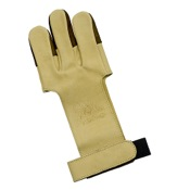 Mountain Man Leather Shooting Glove - Tan, Large, Tan