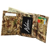 Weber Camo Leather Tri-Fold Wallet, AP