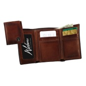 Weber Leather Tri-fold Wallet w/Concho