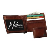 Weber Leather Billfold Wallet w/Concho