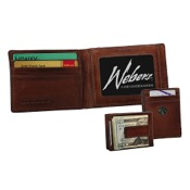 Weber Leather Front Pocket Wallet w/Concho