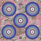 """Arrowmat Foam Rubber Target - Pink Precision 5 Spot, 17""""x17"""""""