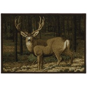 "CR Last Glance Mule Deer, 36""x52"", Nylon"