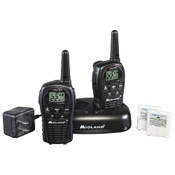 Midland LXT500VP3 2 Way Radio w/Batteries & Charger, 2/pk., Black, 22 Chl, 24 mile