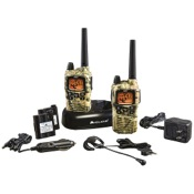 Midland GXT895VP4 2 Way Radio w/Ear/Mic/Batteries & Charger, 2/pk., MossyOak, 42 Chl, 36 mile