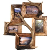 "Rivers Edge 5 Photo Deer Antler Frame, 19""x21"""