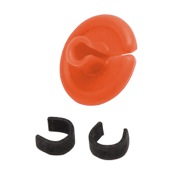 "String Love Kisser Button 2.0 - 25pk., 9/16"", 25/pk., Orange"