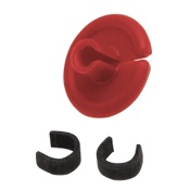 "String Love Kisser Button 2.0 - 25pk., 9/16"", 25/pk., Red"