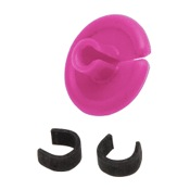 "String Love Kisser Button 2.0 - 25pk., 9/16"", 25/pk., Pink"