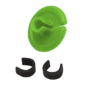"String Love Kisser Button 2.0 - 25pk., 9/16"", 25/pk., Flo. Green"