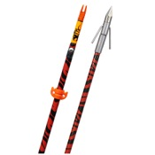 "Fin-Finder Hydro-Skin Arrow w/BIG HEAD Pro Point - Orange Zebra, 32"", Orange Zebra"