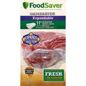 "FoodSaver Expandable Extra Wide Rolls, 11""x18ft, 2 rolls/pk."