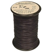 Brownell Bullwhip Serving, 125 yds., Black, .014 Dia.
