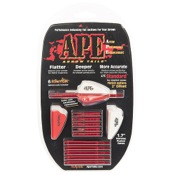 "APE Arrow Tails Vane System w/Lighted Nocks, 2"", 6/pk., Red, Std Offset"