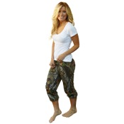 Weber Camo Casual Wear Capris Pants, Sm, BreakUp
