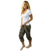 Weber Camo Casual Wear Capris Pants, Lg, BreakUp