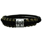 AES Bone Collector Duckband Survival Bracelet, Camo/Black