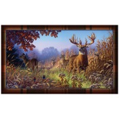 "Rivers Edge Door Mat - Deer Scene, 30""x17.7"", Polyester"