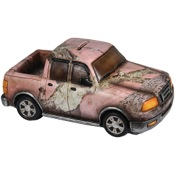 "Rivers Edge Truck Piggy Bank - Pink Camo, 9"" length, poly resin"