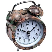 "Rivers Edge Camo Alarm Clock, 4"", 1-AA battery"