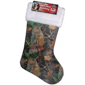 "Rivers Edge Camo Christmas Stocking, 20"", Fall Transition"