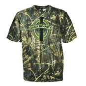 Club Red Duck Dynasty Oval Logo T-Shirt, Lg, Camo, S/S