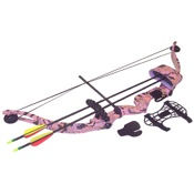 SA Sports Majestic Youth Pink Compound Bow Set, 20lbs, RH