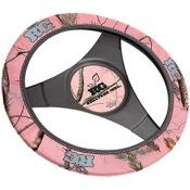 SPG Steering Wheel Cover Neoprene w/Logo - Realtree Girl, AP Pink