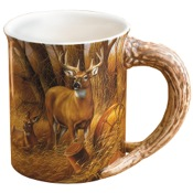 Wild Wings Sculpted Mugs - Rustic Retreat Whitetail, 16oz.
