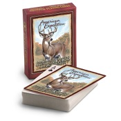 Am Exp Wildlife Playing Cards - Whitetail Deer, Single Deck