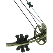 BowJax Revelation Split Limb Dampeners - 11/16, 4/pk., Black, Hoyt