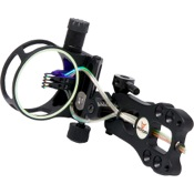 3006 KP Aluma 4 Pin Precision Adjust w/Light, Black, 4 Pin .019, RH/LH