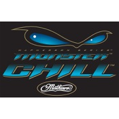 "DWD Monster Chill Decal, 10""x6.5"", Blue"