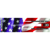 "Bohning HD Wrap - Industrial Flag, 4"", 13/pk., Carbon"