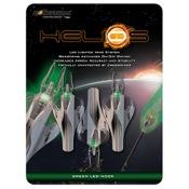 NockTurnal Helios Nock/Fletching Combination, GT, 3/pk., Green