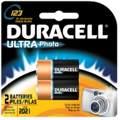 Duracell Lithium Battery - CR123, 2/pk.