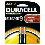 Duracell Coppertop Alkaline Battery - AAA, 2/pk.