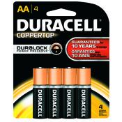 Duracell Coppertop Alkaline Battery - AA, 4/pk.