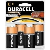 Duracell Coppertop Alkaline Battery - C, 4/pk.